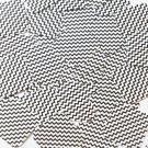 "Sequin Square Diamond 1.5"" Black White Chevron Print Opaque"