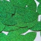 "Sequin Navette Leaf 1.5"" Green Sparkle Glitter Metallic. Made in USA"
