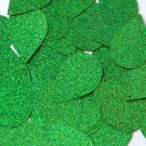 "Sequin Teardrop 1.5"" Green Sparkle Glitter Metallic. Made in USA"