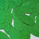 """Sequin Oval 1.5"""" Green Sparkle Glitter Metallic. Made in USA"""