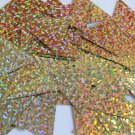 Sequin Triangle 30mm Gold Hologram Glitter Sparkle Metallic. Made in USA