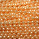 Peach Pearl Beads 2.5mm Molded on Thread Fused to string 120 inches (10')