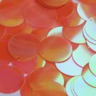 Round Sequin 30mm Orange Ultra Crystal Rainbow Iris Iridescent