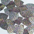 "Shield Sequin 1.5"" Silver Hologram Glitter Sparkle Metallic Couture Paillettes"