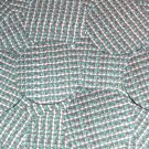 "Round Sequin 1.5"" Green Silver Rocaille Seed Bead Print Metallic Paillettes"