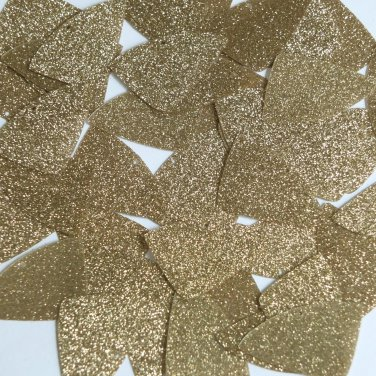 "Fishscale Fin Sequin 1.5"" Light Gold Metallic Sparkle Glitter Texture Paillettes"