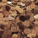 10mm Flat Round Sequins Copper Shiny Metallic. Made in USA