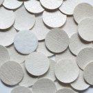 24mm Vinyl Disc White Metallic Leather No Hole Round Circle