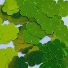 "Sequin Flower 1"" / 25mm Lime Green Metallic Fluorescent. Made in USA"