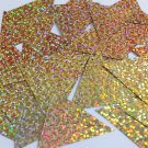 Sequin Triangle 40mm Gold Hologram Glitter Sparkle Metallic. Made in USA