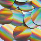 Sequin Round 60mm No hole Gold Lazersheen Reflective Metallic. Made in USA