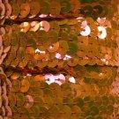 """Orange Pink Fluorescent Sequin Trim 6mm 1/4"""" wide stitched Strung by yard 15'"""