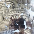 "Sequin Rectangle 1.5"" Black Silver Binary Tech Code Print Out Metallic"