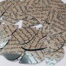 "Sequin Teardrop 1.5"" Black Silver Midsummer Night's Dream Shakespeare Script"