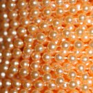 Peach Pearl Beads 4mm Molded on Thread Fused to string 120 inches (10')