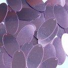 "Lavender Lilac Shiny Metallic Sequins Oval 1.5"" Large Couture Paillettes"