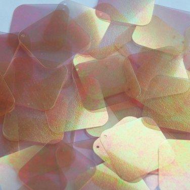 """Square Diamond Sequin 1.5"""" Copper Matte Crystal Rainbow Iris Iridescent"""