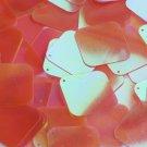 "Square Diamond Sequin 1.5"" Orange Ultra Crystal Rainbow Iris Iridescent"