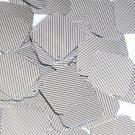 "Sequin Square Diamond 1.5"" Black Silver Pinstripe Metallic Couture Paillettes"