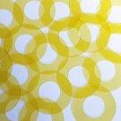 "Donut Ring Vinyl Shape 1.5"" Yellow Go Go Transparent"