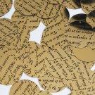 Sequin Round 30mm Black Gold Midsummer Night's Dream Shakespeare Script Metallic
