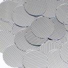 Sequin Round 30mm Black Silver Pinstripe Metallic Couture Paillettes