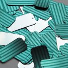"Rectangle Sequin 1.5"" Teal Blue Green Corrugated Stripe Metallic"