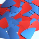 "Fishscale Fin Sequin 1.5"" Red Blue Matte Silk Frost"