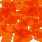 "Long Diamond Vinyl Shape 1.75"" Orange Go Go Transparent"