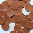 24mm Vinyl Disc Brown Leather No Hole Round Circle
