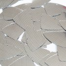 "Sequin Fishscale Fin 1.5"" Black Silver Grid Check Squares Print Metallic"