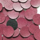 24mm Vinyl Disc Plum Purple Leather No Hole Round Circle