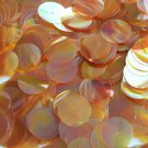 20mm Sequins Center Hole Apricot Golden Crystal Iris Rainbow Iridescent. Made in