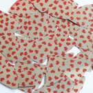 "Sequin Fishscale Fin 1.5"" Sweet Hearts Print Red Silver Metallic"