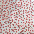 "Sequin Square Diamond 1.5"" Sweet Hearts Print Red Silver Metallic"