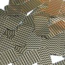 "Sequin Rectangle 1.5"" Gold Black Pinstripe Metallic Couture Paillettes"