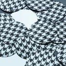 """Round Sequin 1.5"""" Black Silver Houndstooth Pattern Metallic"""
