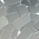"Sequin Rectangle 1.5"" Green Silver Pinstripe Metallic Couture Paillettes"