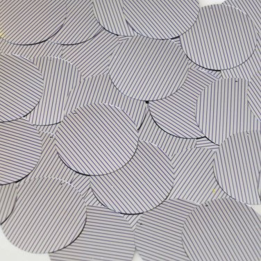 "Sequin Round 1.5"" Purple Silver Pinstripe Metallic Couture Paillettes"