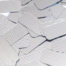 "Sequin Rectangle 1.5"" Black Silver Pinstripe Metallic Couture Paillettes"