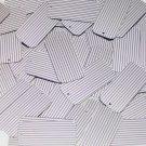 "Sequin Rectangle 1.5"" Purple Silver Pinstripe Metallic Couture Paillettes"