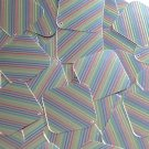 "Sequin Square Diamond 1.5"" Rainbow Pinstripe on Silver Metallic"
