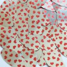 "Sequin Oval 1.5"" Sweet Hearts Print Red Silver Metallic"