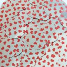 Sequin Round 30mm Sweet Hearts Print Red Silver Metallic