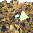"Long Diamond Sequin 1.75"" Gold Orange Coleus Foliage Leaf Metallic"