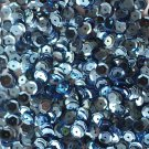 6mm Cup SEQUIN FACET PAILLETTES ~ Light BLUE Metallic ~ Made in USA