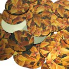 "Round Sequin 1.5"" Gold Orange Coleus Foliage Leaf Metallic"