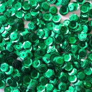 6mm Cup SEQUIN FACET PAILLETTES ~ GREEN Metallic ~ Made in USA