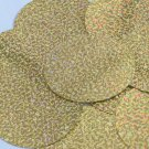 Sequin Round 70mm 2 hole Gold Hologram Glitter Sparkle Metallic. Made in USA