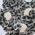 24mm Vinyl Disc B and W Animal Print No Hole Round Circle